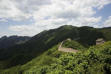 Imagem aérea da Grande Muralha da China