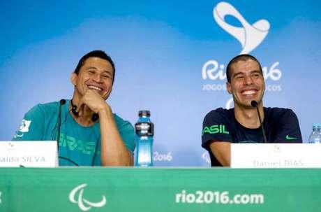 Clodoaldo Silva e Daniel Dias: duas gerações da premiada natação brasileira (Foto: Washington Alves/MPIX/CPB)