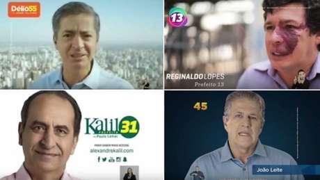 Nenhum dos quatro mais bem colocados na disputa pela prefeitura de Belo Horizonte exibe nome e logomarca de seu respectivo partido
