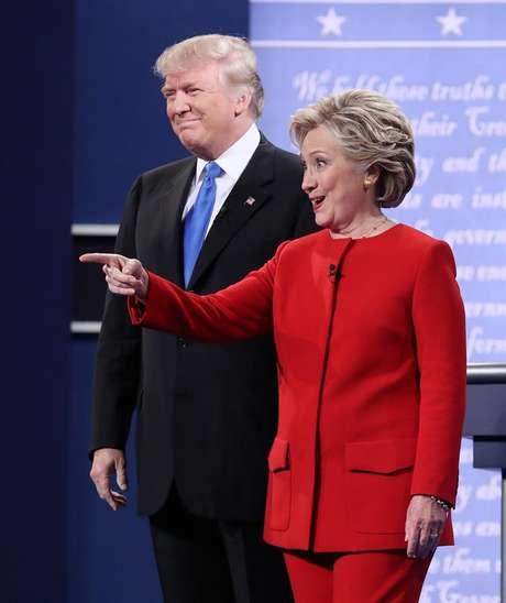 Os candidatos Hillary Clinton e Donald Trump