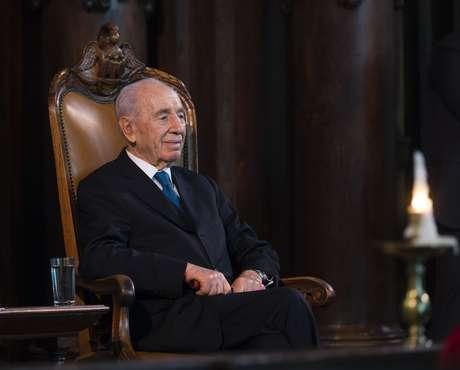 Shimon Peres em foto de 2013