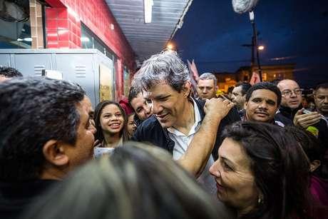 Em seu discurso após a confirmação de vitória de Doria no 1º turno, Haddad pregou uma transição tranquila e transparente