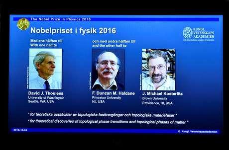 David Thouless, Duncan Haldane e Michael Kosterlitz são os vencedores do prêmio Nobel de Física de 2016