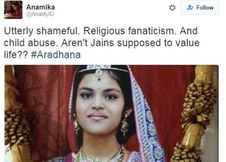 Muitas pessoas usaram redes sociais para criticar jejum que levou a jovem à morte