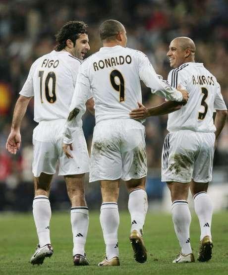Figo na época em que brilhou pelo Real Madrid