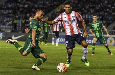 Chapecoense perdeu o jogo de ida para o Junior Barranquilla (Foto:Divulgação/Twitter Oficial da Conmebol)