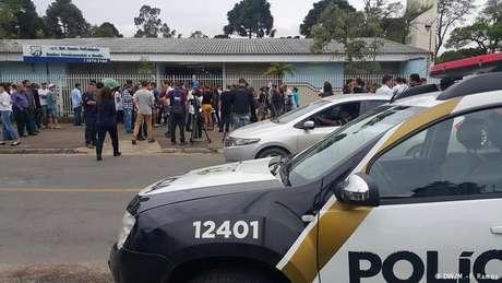 Adolescente morreu num banheiro do Colégio Santa Felicidade, em Curitiba