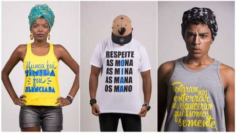 Frases e expressões de empoderamento estampam camisetas da loja virtual criada em Salvador