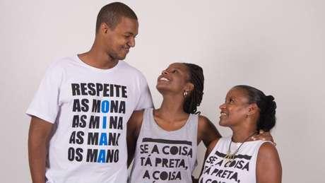 Lucas Santana, Monique Evelle e Neuza Nascimento: loja virtual para apoiar empreendedorismo negro