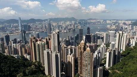 Hong Kong foi construída em terreno montanhoso