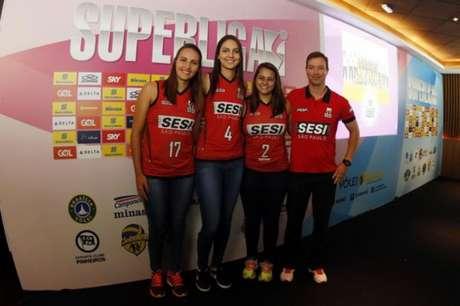 Equipe do Sesi-SP aposta na juventude nesta edição da Superliga (Foto: Gaspar Nobrega/Inovafoto/CBV)