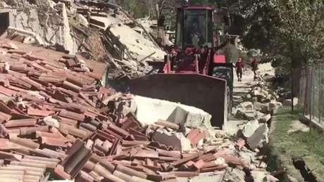 Destruição causada pelo terremoto na região central da Itália