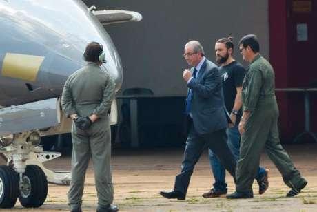 O ex-presidente da Câmara dos Deputados, Eduardo Cunha, apontou Temer e Lula como testemunhas de defesa  ()