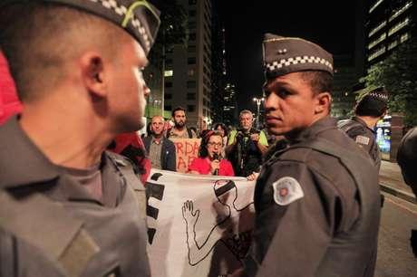 Manifestação contra a violência policial em São Paulo