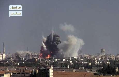 Efectivos rusos heridos por el lanzamiento de proyectiles en Alepo
