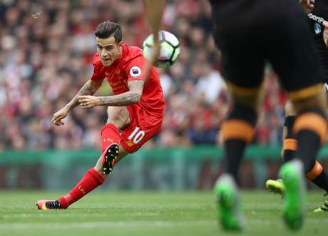 Coutinho está voando com a camisa do Liverpool