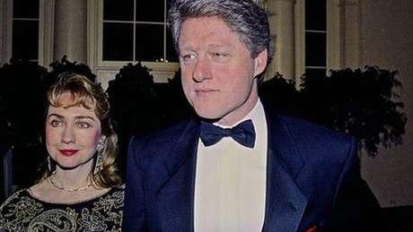 Hillary e Bill em um evento de gala em 1991