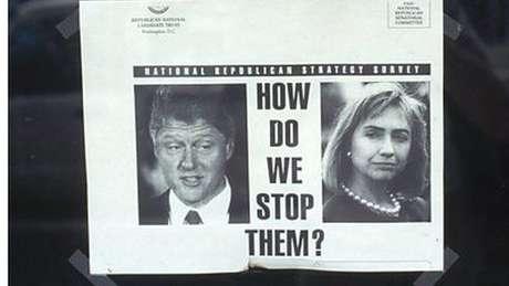 """Um panfleto do partido republicano questiona """"Como podemos parar esses dois?"""""""