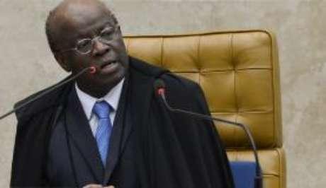 O ex-ministro Joaquim Barbosa quando presidia o Supremo Tribunal Federal