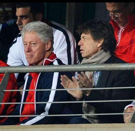 Bill Clinton e Mick Jagger