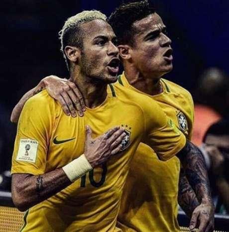Neymar e Coutinho tiveram grande desempenho contra a Argentina (Reprodução/Instagram)
