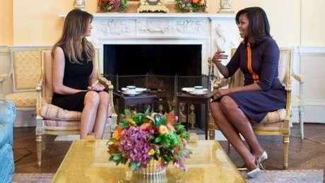 Michelle Obama também se reuniu com a futura primeira-dama, Melania Trump