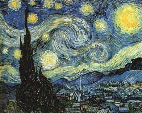 """A obra """"A noite estrelada"""", de Vincent Van Gogh, é uma das obras que estão no Museu de Arte Moderna de Nova York e que é limpa com a saliva dos funcionários"""