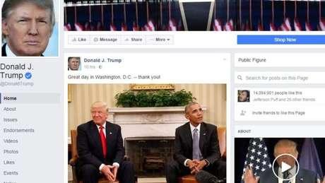 Rede social foi acusada de permitir propagação de notícias falsas postadas por correligionários de Trump