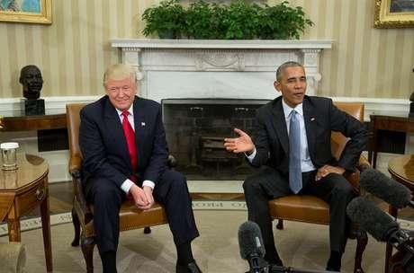 Donald Trump e Barack Obama se encontraram na Casa Branca