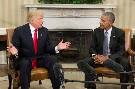 Apesar de tom cordial, foi possível notar um certo mal-estar em encontro entre presidente eleito dos EUA e presidente que deixa o cargo em janeiro