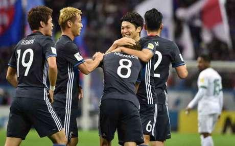 Haraguchi fez o segundo gol do Japão (Foto: Kazuhiro Nogi / AFP)