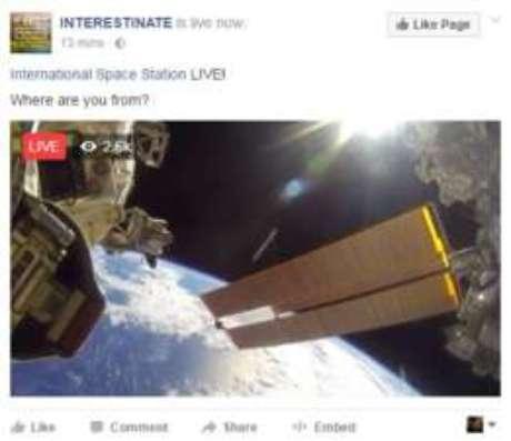 Vídeos que viralizaram não foram transmitidos em fontes oficiais como a Nasa - um grande indicativo de que a transmissão ao vivo era falsa