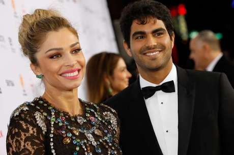 Grazi com o namorado, Patrick Bulus, no Emmy (Foto: Rodrigo Barbosa/TV Globo)
