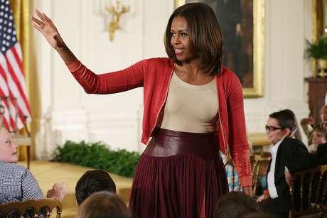 Michelle Obama en un diseño de Sophie Theallet