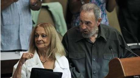 Fidel Castro e a companheira de longa data, Dalia Soto del Valle