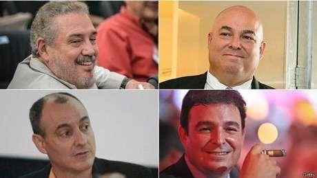 """Alguns dos filhos de Fidel Castro: """"Fidelito"""", Alex, Antonio e Alexis."""