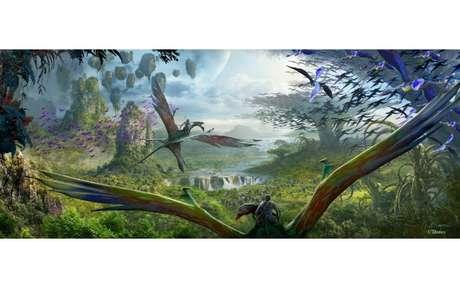 """Em uma das atrações, os visitantes irão """"sobrevoar"""" os cenários do filme"""