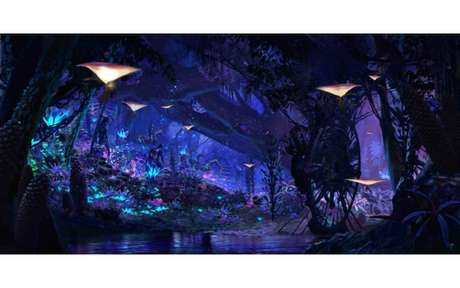 "Projeto visual do parque ""Pandora, The World of Avatar"""