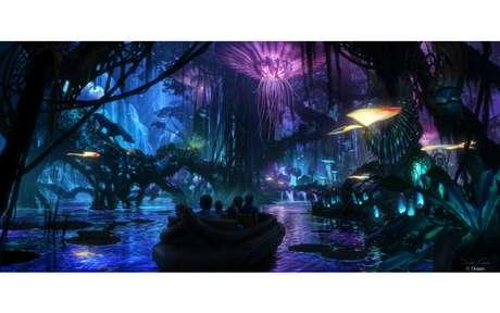 Outra atração, levará os visitantes a um passeio de barco por Pandora