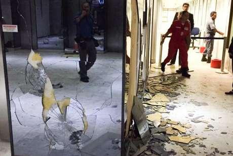 O MEC teve vidros e equipamentos quebrados e o prédio invadido no protesto