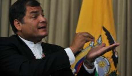 O ex-presidente do Equador Rafael Correa