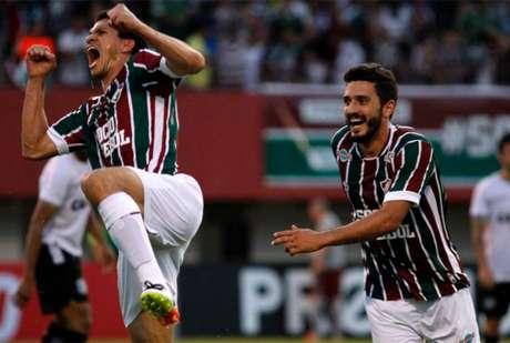 Magno Alves comemora um de seus oito gols na temporada de 2016 (Foto: Nelson Perez/Fluminense F.C.)