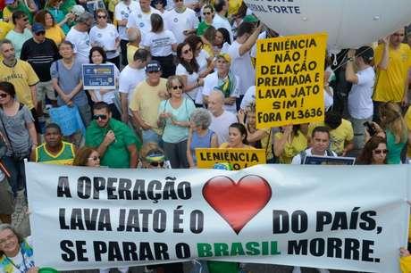 Ato em apoio à Operação Lava Jato no Rio de Janeiro