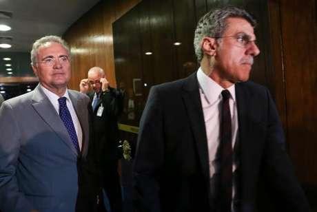 Renan Calheiros e Romero Jucá
