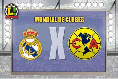 Real Madrid e América-MEX medem forças pelas semifinais do Mundial (Foto: Montagem / LANCE!)