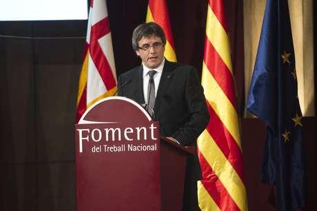 Presidente da região da Catalunha, o separatista Carles Puigdemont