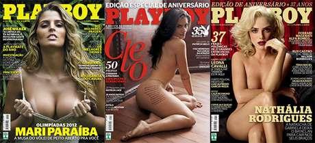 Seleção de capas da revista Playboy
