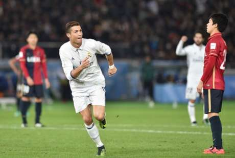 Cristiano Ronaldo marcou três gols contra o Kashima (Foto: AFP)