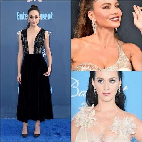 Katy Perry, Sofía Vergara y Emmy Rossum causaron impacto con sus escotes.