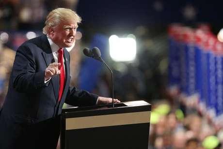 Donald Trump discursa no encerramento da convenção do Partido Republicano em Cleveland